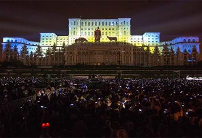 video mapping romania