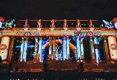 Energy of Bucharest - Interactive Video Mapping
